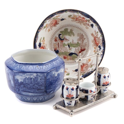 """Maling Ware """"Castles"""" Rington's Tea Caddy and Other Tableware"""