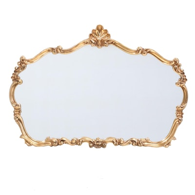 Rococo Style Gold Tone Wall Mirror, Late 20th Century