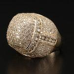 14K Gold 4.45 CTW Diamond Dome Ring
