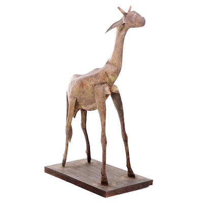 Tin Sculpture of a Giraffe, 20th Century