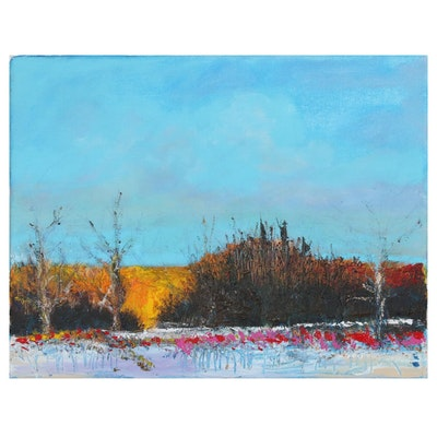 Robert Lackney Landscape Acrylic Painting