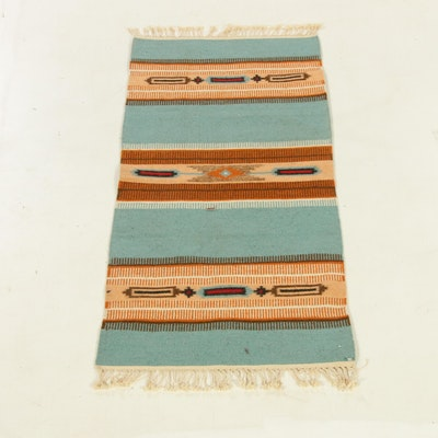 1'8 x 4'6 Handwoven Romanian Kilim Rug, 1980s
