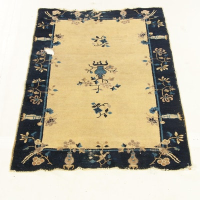 3'2 x 4'10 Hand-Knotted Chinese Peking Rug, 1920s