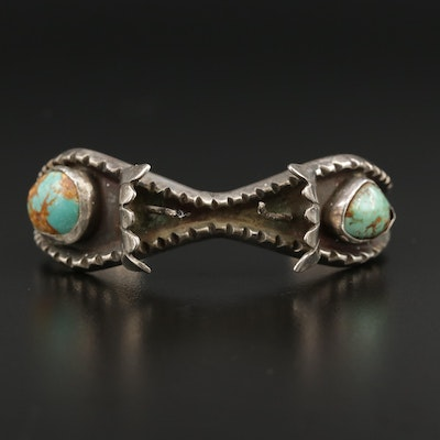 Southwestern Style Sterling Silver Turquoise Watch Cuff