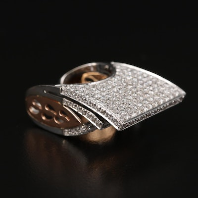 18K White and Rose Gold 2.69 CTW Diamond Ring
