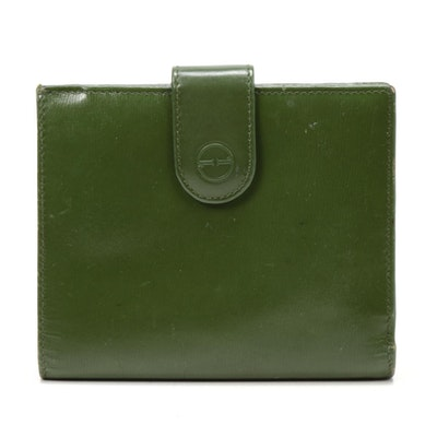 Gucci Green Leather Bifold Wallet