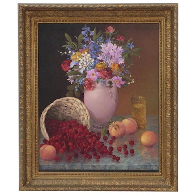 Michail Walusko Still Life Oil Painting, Late 20th Century