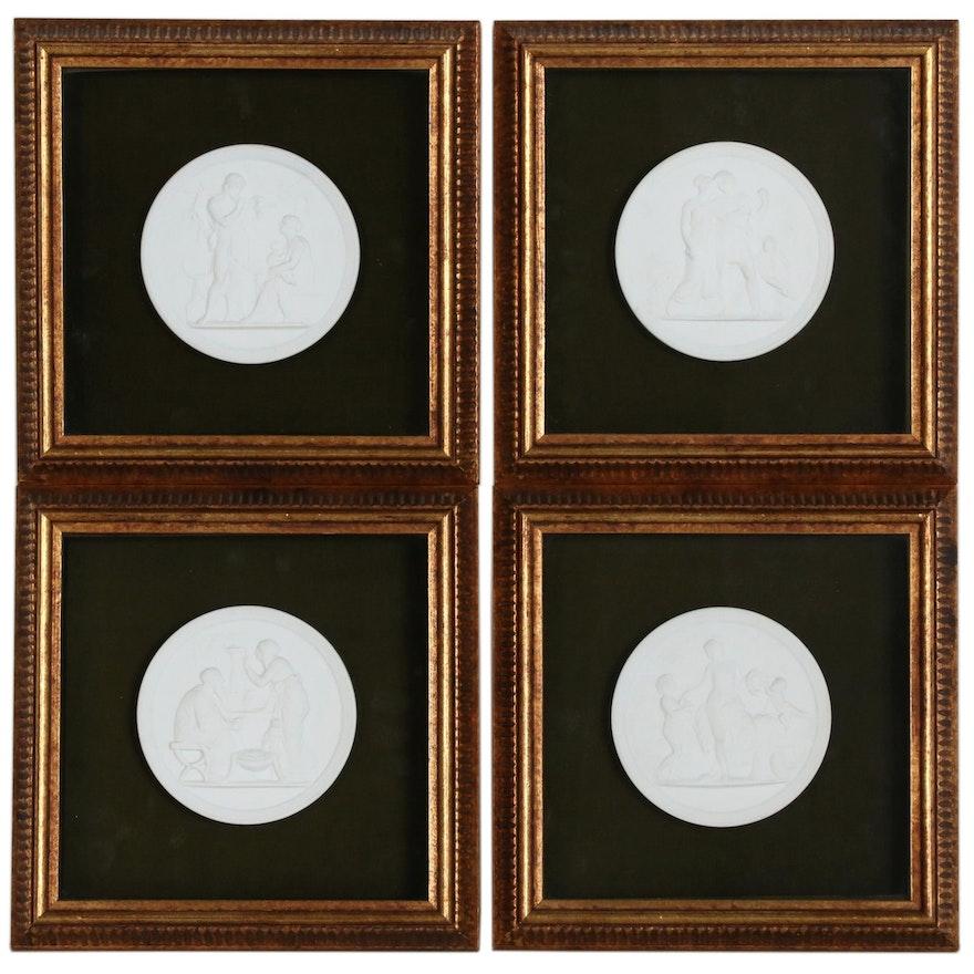 "Ceramic Plaques after Bertel Thorvaldsen ""Four Seasons"" Series"