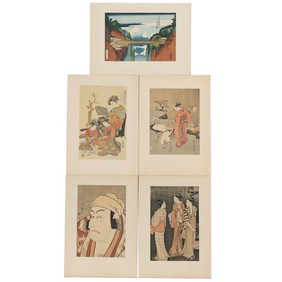 Offset Lithographs after Japanese Ukiyo-e Woodblocks