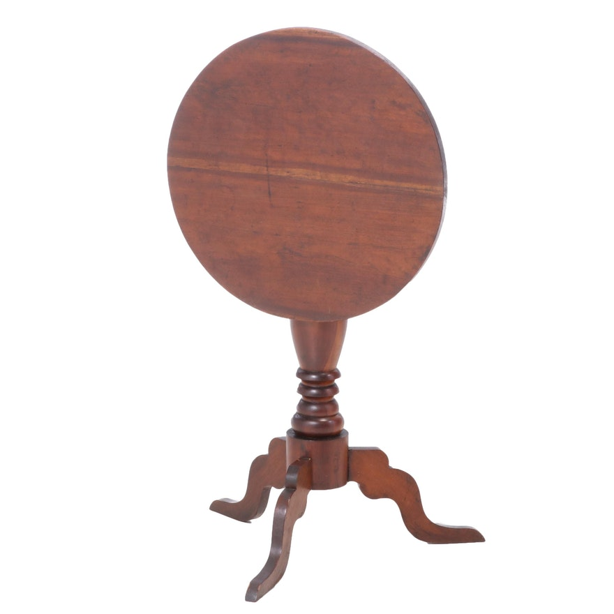 Mahogany Tilt-Top Tripod Table