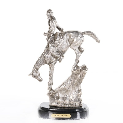 "Reproduction Base Metal Sculpture after Frederic Remington ""Mountain Man"""