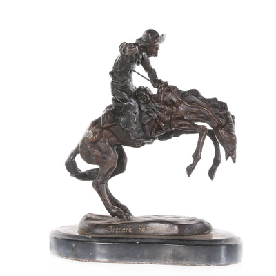 Reproduction Copper Alloy Sculpture after Frederic Remington