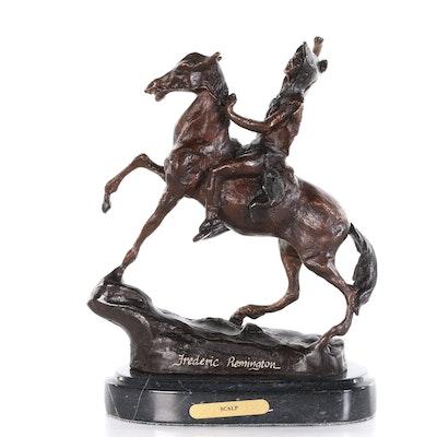 "Reproduction Copper Alloy Sculpture after Frederic Remington ""Scalp"""