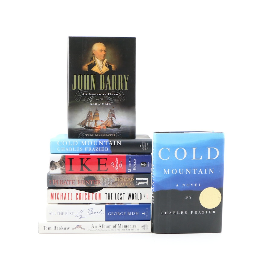 """First Edition Fiction and Nonfiction Including """"Cold Mountain"""" and """"John Barry"""""""
