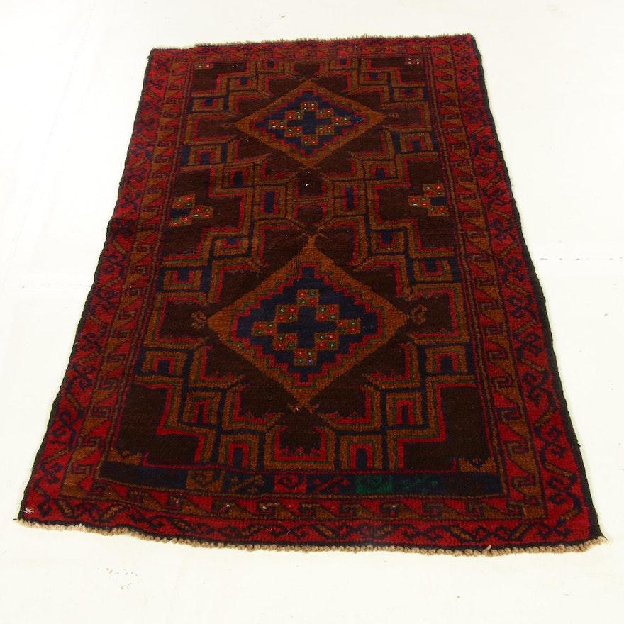 2'9 x 4'11 Hand-Knotted Afghani Turkoman Rug, 2000s