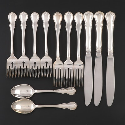 """Towle """"French Provincial"""" Sterling Silver Flatware, Mid to Late 20th Century"""