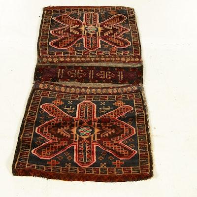 1'9 x 3'8 Handmade Persian Kurdish Saddle Bag, 1990s
