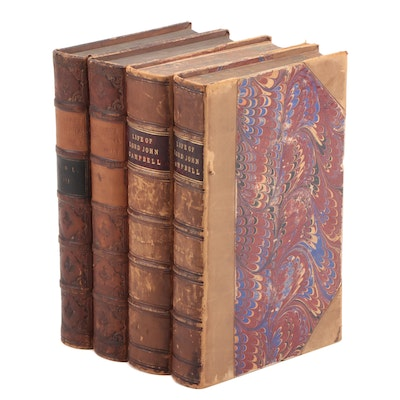 "Leather Bound ""Life of John, Lord Campbell"" with ""Biographical Dictionary"""