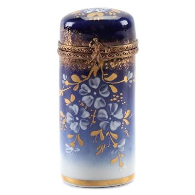 Parry Vielle Floral Hand-Painted Porcelain Limoges Box