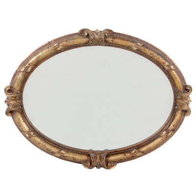 Victorian Style Oval Wall Mirror