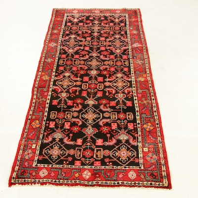 3'11 x 10'1 Hand-Knotted Northwest Persian Wide Runner Rug, 1970s