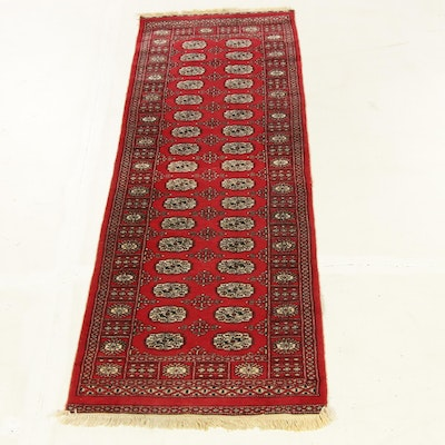2'8 x 8'6 Hand-Knotted Pakistani Bokhara Runner Rug, 2000s