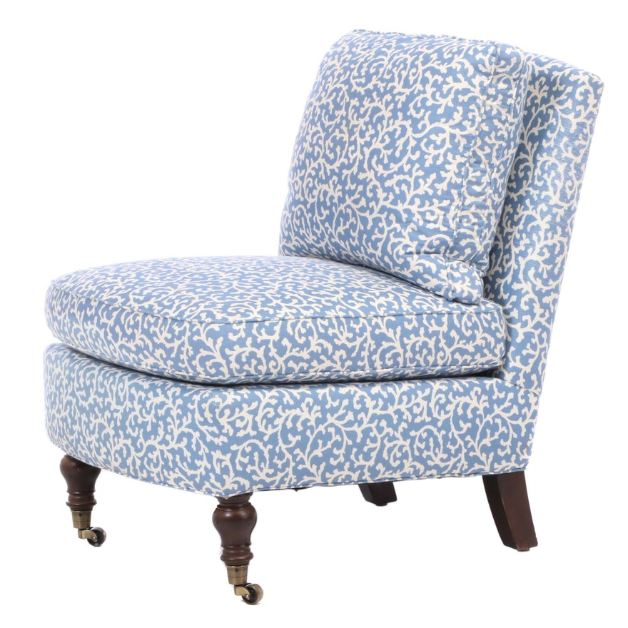 Williams-Sonoma Upholstered Slipper Chair, Late 20th Century