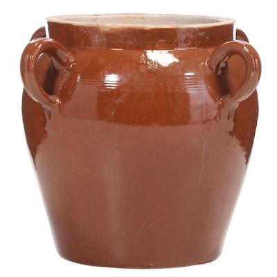 French Provincial Ceramic Confit Pot Form Planter