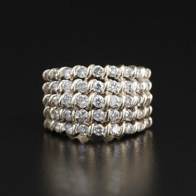 10K Yellow Gold 2.00 CTW Diamond Ring