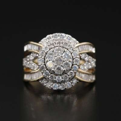 10K Yellow Gold 2.23 CTW Diamond Ring