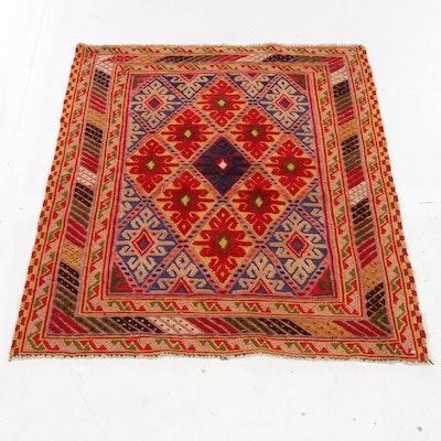 2'7 x 3'5 Hand-Knotted Uzbek Soumak Rug, 1990s