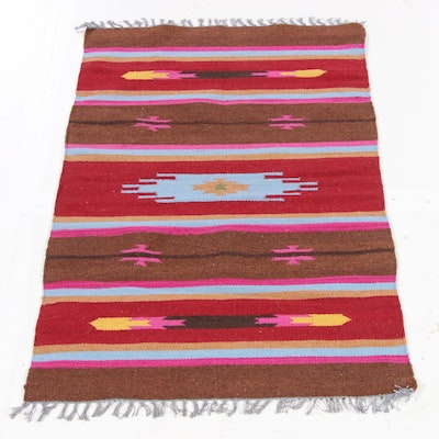 3'2 x 5'4 Handwoven Indo-Turkish Kilim Rug, 2010s