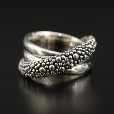 Michael Dawkins Sterling Silver Crossover Ring