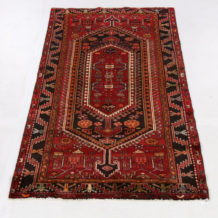 4'1 x 7'8 Hand-Knotted Northwest Persian Rug, 1970s