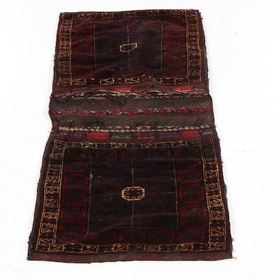 2'6 x 5'5 Handmade Persian Baluch Saddle Bag, 1930s