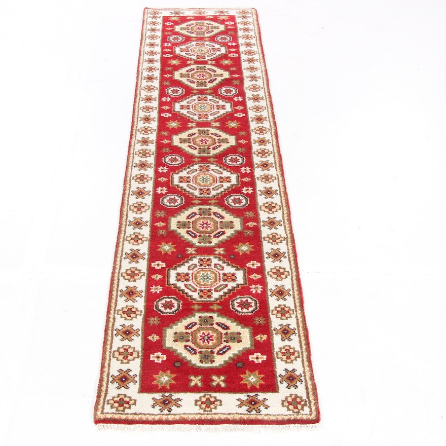 2'7 x 10'11 Hand-Knotted Indo-Persian Tabriz Runner Rug, 2010s