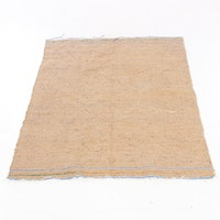 3'10 x 5'7 Handwoven Indian Mid Century Modern Style Rug, 2000s
