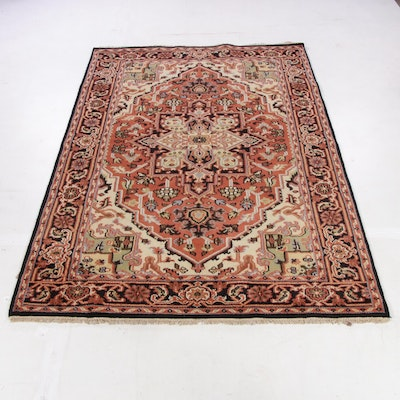 6'0 x 9'4 Hand-Knotted Indo-Persian Heriz Serapi Rug, 2010s