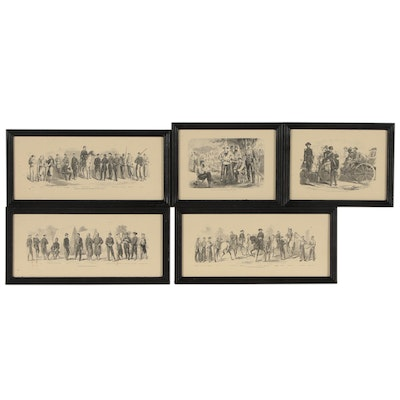Harper's Weekly Civil War Themed Wood Engravings