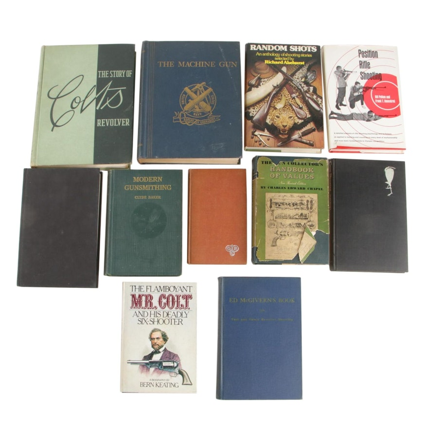 """1953 """"The Story of Colt's Revolver"""" with Other Firearms Books"""