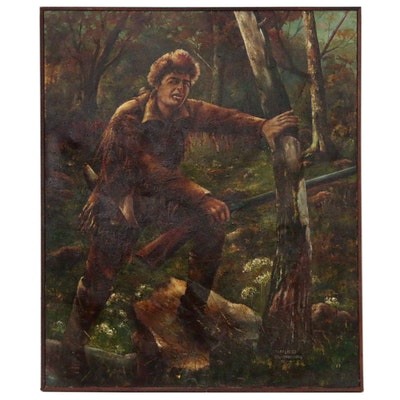 Anneliese D. Wahrenburg Oil Painting of Hunter, 1959