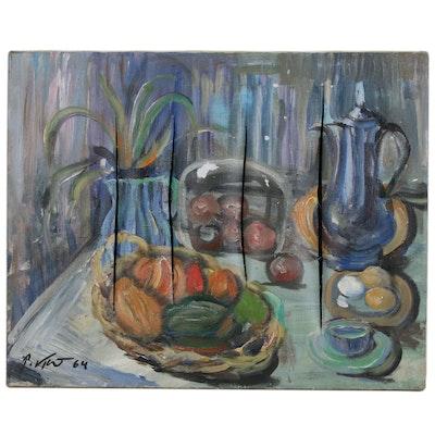 Peter Keil Still Life Oil Painting, 1964