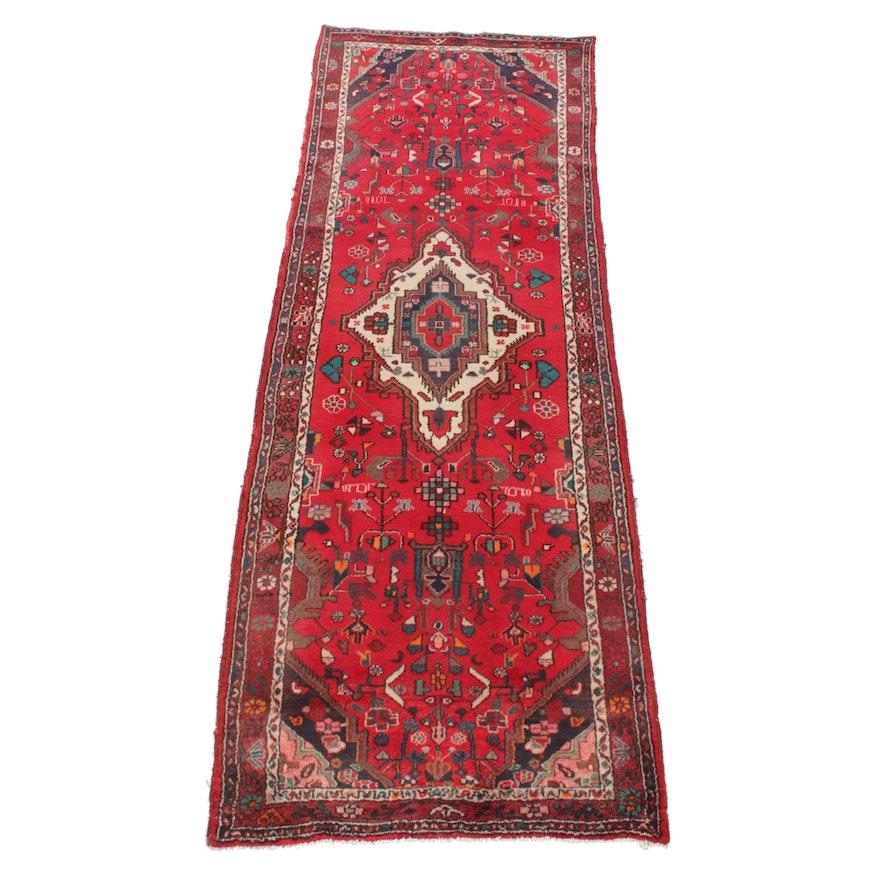 3'4 x 9'9 Hand-Knotted Persian Heriz Serapi Runner