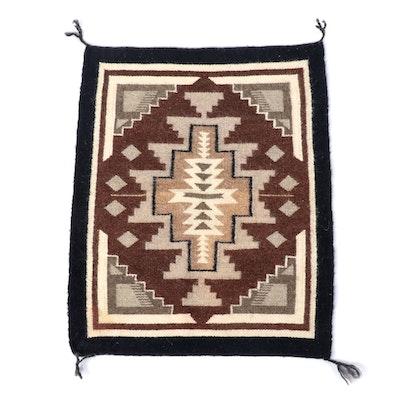 1'9 x 2'3 Handwoven Southwestern Style Wool Rug