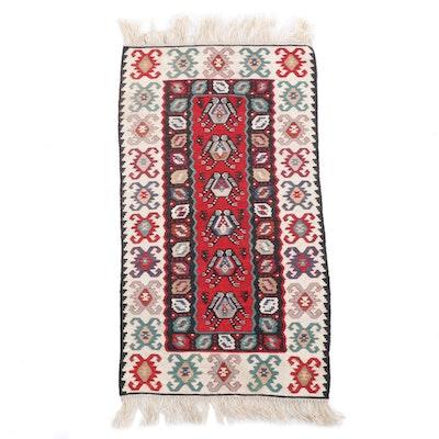 2'6 x 5'4 Handwoven Caucasian Kazak Kilim Wool Rug