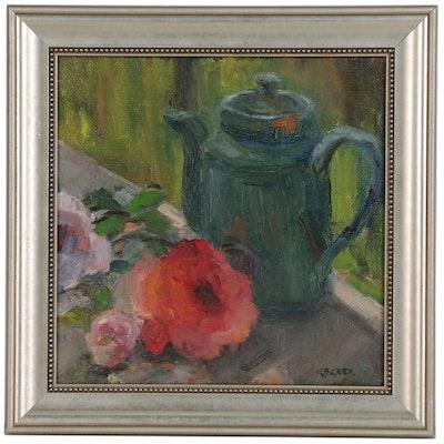 Cynthia B. Crier Still Life Oil Painting