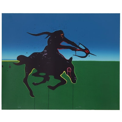 "Joh Nieto Serigraph ""Native American Survivor"""