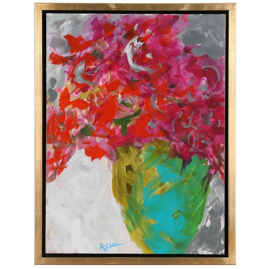 "Claire McElveen Acrylic Painting ""Joy"""