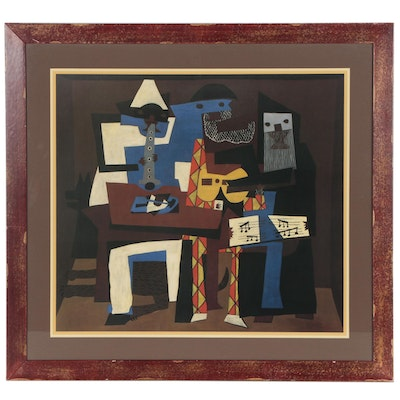 "Offset Lithograph after Pablo Picasso ""Three Musicians"""