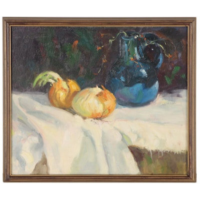 Frank E. Zuccarelli Still Life Oil Painting